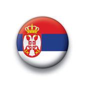 Vector bandera botón serie de todos los países soberanos - serbia — Vector de stock