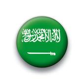 Vector bandeira botão série de todos os países soberanos - arábia saudita — Vetorial Stock
