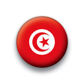 Vector flag button series of all sovereign countries - Tunisia — Cтоковый вектор