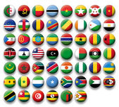 Vector Set of buttons flags of Africa — Stock Vector