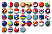 Vector Set of buttons flags of Oceania and Pacific — Stock Vector