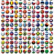 Vector Set of buttons flags of the World — Stock Vector #39085679
