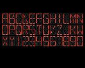 Digital Alphabet Red — Stockvektor