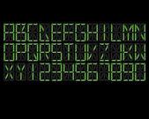 Digital Alphabet Green — Stockvektor
