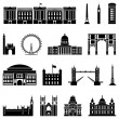 Vector illustration of the various landmarks of London — Stock Vector #45109165