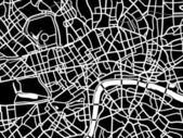 Vector map of London — Stock Vector