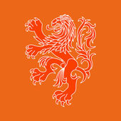 Vector lion of Netherlands — Stock Vector