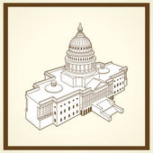 United states capitol postcard — Stock Vector