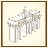 Brandenburg gate postcard — Stock Vector
