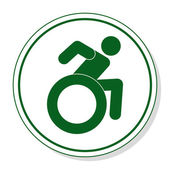 Web icon for communication - disabled people — Stockvektor