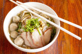 Small bowl of delicious noodles — Stock Photo