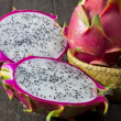 Stock Photo: Dragon fruit on wooden floors