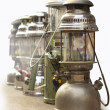 Old lanterns isolated on the background — Stock Photo