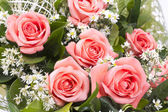 Background image of pink roses — ストック写真
