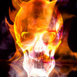 Stock Photo: Burning skull bringer of doom