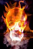 Burning skull bringer of doom — Stock Photo