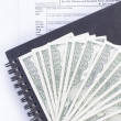 Stock Photo: U.S. income tax form