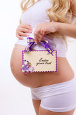 Beautiful pregnant woman — Foto de Stock