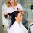Hair care in the beauty salon — Stock Photo