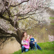 Stock Photo: Family in spring garden