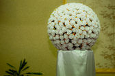 Amazing white wedding flowers — Stockfoto