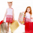 Two shopping sisters — Stock Photo