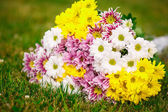 Beautiful bouquet of colorful flowers — Stock Photo