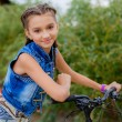 Stock Photo: Teenage girl on bike trip
