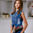 Stylish teenage girl — Stockfoto