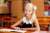 Meisje studeren op school — Stockfoto