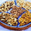 Cookies and nuts — Stock Photo
