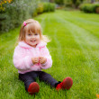 little girl  in the meadow — Stock Photo