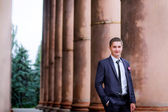 Groom on the wedding day — Foto Stock