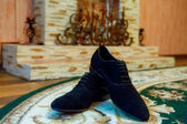 Shoes of groom — Stock Photo