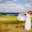 Stock Photo: Bride in wedding dress