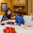 Family tea party — Stock Photo #34193209
