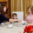 Family tea party — Stock Photo #34196347
