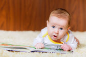 Little boy with a book — Stock Photo