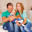 Happy family at home. — Stock Photo