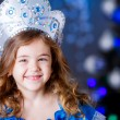 Girl in dress of Princess on New Year — Stock Photo