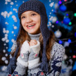 Happy smiling girl in hat — Stock Photo #37313143