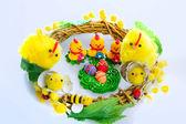 Easter wreath — Stock Photo