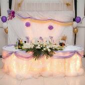 Decoración de la mesa de los recién casados — Foto de Stock
