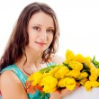 Pretty woman with tulips — Stock Photo #39931865