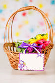 Basket with tulips — Foto Stock