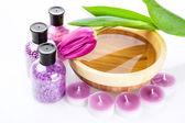 Lila spa-behandlingar — Stockfoto