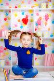 Malá holčička se bavit — Stock fotografie