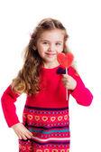 Mooi meisje met lolly — Stockfoto