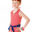 Little girl in a bathing suit — Stock Photo