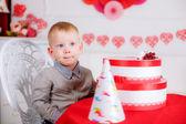 Birthday of little boy — Stock Photo